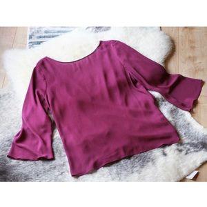 Zara Fuchsia Drape Back Top Size L